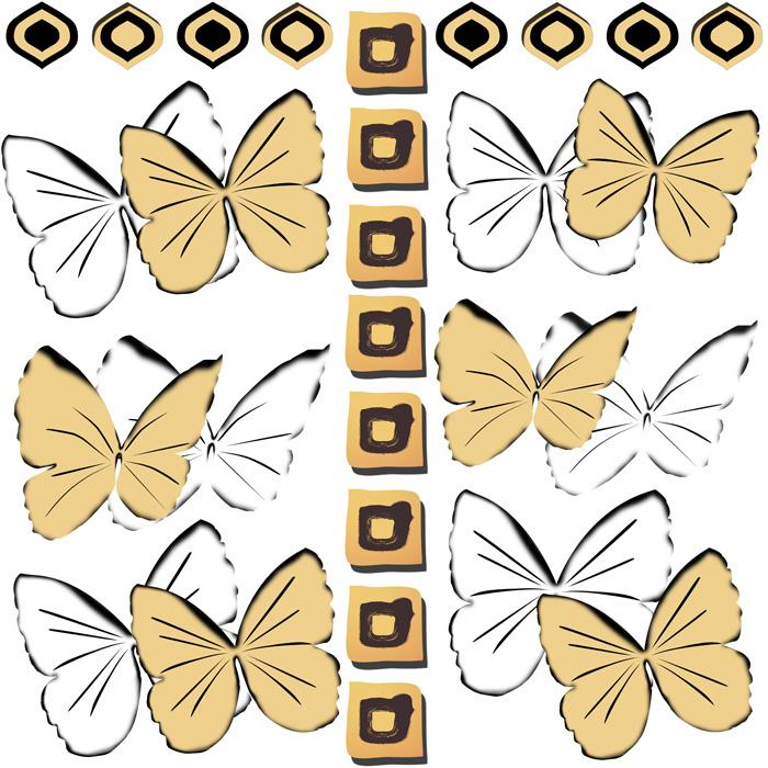 Quadrados e borboletas
